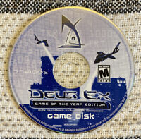 Deus Ex: Game of the Year Edition (PC, 2001) Disc Only