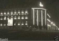 Glauchau, VEB Textilwerke Einheit (Palla) bei Nacht, altes Foto aus DDR-Zeiten
