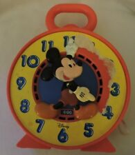 Vintage Mickey Mouse Toy Clock/Pull String Toy