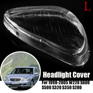 Left Headlight Headlamp Clear Lens Shell Cover For Mercedes Benz W220 1998-05