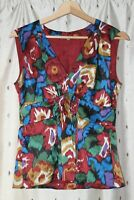 Whistles ~ Lined Floral Silk Top ~ Size 10