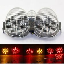 Clear Tail Light Integrated LED Signals For 01-02 Yamaha YZF R6 2001 2002