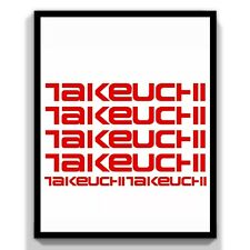 Takeuchi,Decal,Sticker,Key,Excavator,Digger,Van,Car, Toolbox,Tb125,Tb228