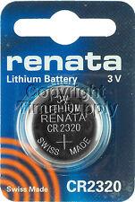 1 PC 2320 Renata Lithium Watch Batteries Ship