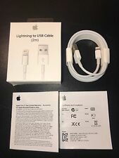 2M OEM Lightning USB Cable 6FT iPhone 5s 6s Plus 6 Charger BUY 2 GET 1 FREE