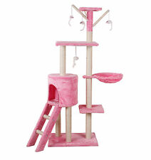 2019 Cat Scratching Post Scratcher Tree Activity Toy Pet Playing Centre Climbing