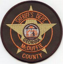 McDUFFIE COUNTY GEORGIA GA SHERIFF POLICE PATCH