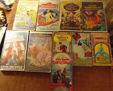 Lot of 10 ANIMATED CHILDREN'S VHS Tapes - Disney  Rankin & Bass  Jim Henson +