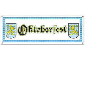 OKTOBERFEST LARGE BANNER PARTY HANGING DECORATION GERMAN BAVARIAN BEER FESTIVAL