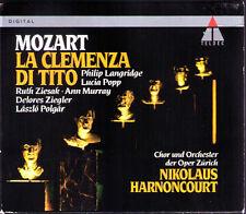 Mozart la clemenza di Tito Langridge Lucia Popp Ziesak Ziegler Harnoncourt 2cd