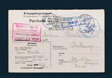 France carte correspondance  prisonniers de guerre postkarte Stalag Geprüf 1941