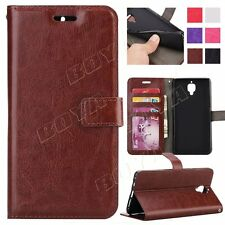 For OnePlus 3 Magnetic flip case Luxury PU wallet cover stand card cash pockets