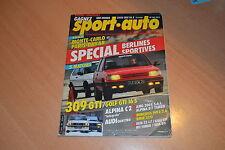 Sport Auto N°301 309 GTi / Golf GTi 16S.Alpina B7 Turbo / AMG 300 E 5.6.Visa GTi