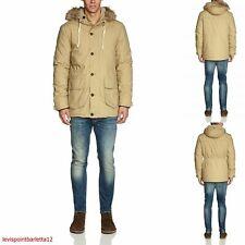 Lee parka da uomo giubbotto cappotto giubbino modello woolrich con cappuccio xl