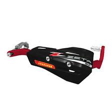 "Zeta Aluminum Drop Handguard Armor / XC Flasher Protector Kit - 7/8"" Black / Red"
