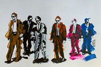 ORIGINAL Reservoir Dogs Tarantino Movie Abstract Palette Knife Pop Art Painting