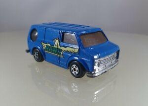"""Unbranded Diecast Bedford Summer Van """"Hawk"""", Blue - 1/64 Scale"""