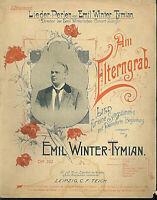 Emil Winter-Tymian , Am Elterngrab,  übergroße, alte Noten