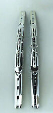 460mm Chrome Double Blade Winshield Wiper SILVER  18 INCH X 2 WIPERS UNIVERSAL