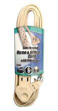 Coleman 03507 2 Pack 16/3 6ft. Slimline Household Extension Cord, Beige