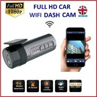 Car Dash Cam, Mini Car Camera Built-in WiFi Full HD 1080P 170° Wide Angle Lens
