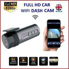 Coche Dash Cam, Mini Coche Cámara Wifi Incorporado Full Hd 1080P 170 ° Lente Gran Angular