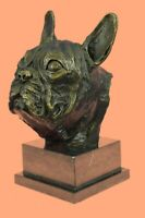 Art Deco Abstract Modern English French Bulldog Dog Bronze Statue Home Decor LRG