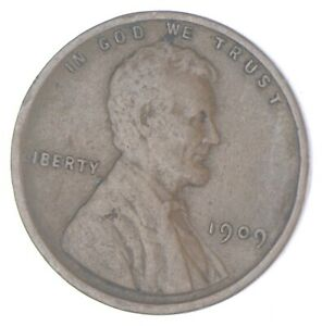 XF+ 1909 Lincoln Wheat Cent - 1st Year Issue - Great Condition *859