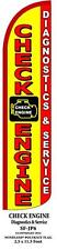 Check Engine Diagnostics & Service Windless Swooper Feather Banner Flag Sign
