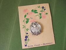 Vintage Catholic Lapel Pin Brooch ST. JOSEPH Jesus + Angel on original card NOS