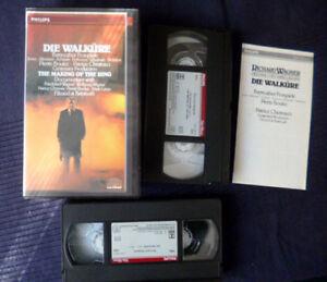 2xVHS Video Die Walküre BOULEZ Bayreuth WAGNER Hofmann +Documentary Ring PHILIPS