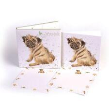 carlino amor - Perro Tarjeta Paquete - 4 Plegable/8 Plano Tarjetas & 12 SOBRES