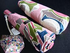 Coach Gallery Scarf Print Multicolor Signature Compact Umbrella NWT