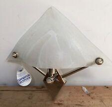MODERN CRYSTALLISED TRIANGULAR ART GLASS WALL LIGHT