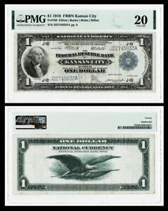 FR.# 739  1918 $1 Large Size Federal Reserve Bank Note~ PMG VF20