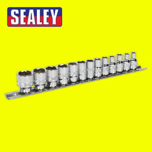 "Sealey - AK2746 Rounded / Damaged Nut Remover Set 13pc 1/4"" Drive Lock On Socket"