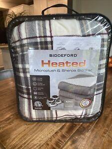 Biddeford Heated Microplush & Sherpa Blanket - King Sized - 2 Controllers!