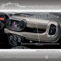1 ADESIVO DECAL STICKERS STRIPE CRUSCOTTO FIAT 500 L AUTO TUNING SPORT