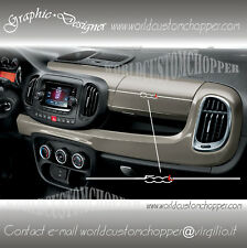 1 ADESIVO DECAL STICKERS STRIPE CRUSCOTTO FIAT 500 L AUTO TUNING SPORT