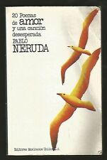 Pablo Neruda Book 20 Poemas De Amor Y Una Cancion 1980