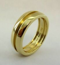 TIFFANY & Co. 18K Gold Atlas Groove Ring 6.5