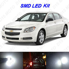 7 x White LED interior Bulbs + License Plate Lights for 2008-2012 Chevy Malibu