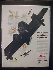 VINTAGE OLD~WORLD WAR II FIGHTER AIRPLANES ART PRINT AD~ ORIG ANTIQUE WWII 1943