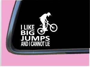 "Mountain Bike Big Jumps TP 740 vinyl 6"" Decal Sticker mt pedal bicycle helmet"