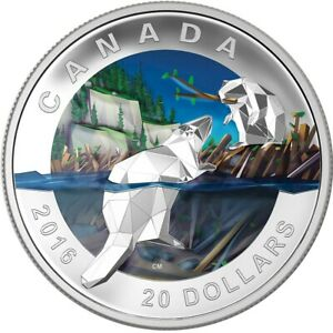 Geometry in Art: The Beaver - 2016 Canada $20 Fine Silver Coin *No Case