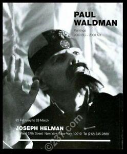1998 Paul Waldman photo NYC gallery print ad