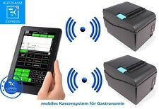 "10"" Mobile Kasse für Gastronomie: 2xBondrucker, Android-Tablet, Kassensoftware"