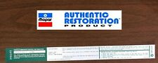 1973 Dodge Plymouth Chrysler 318 2bbl Automatic Trans Emissions Decal MoPar NEW