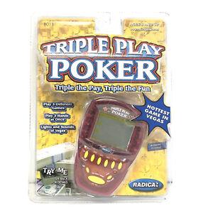 Radica Triple Play Poker NEW AND SEALED 2000 Hand Held Game 8011 Handheld RARE