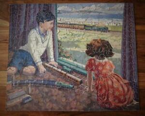 CHAD VALLEY G.W.R VERY RARE WOODEN JIGSAW 'THE MODEL RAILWAY' 1934-38 200pc